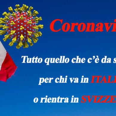 Coronavirus. Italia Svizzera viaggiare sicuri