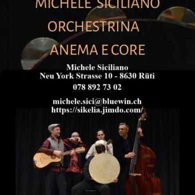 """""""Michele Siciliano l'Orchestrina Anema e Core"""" Dalla Sicilia a Napoli in musica"""