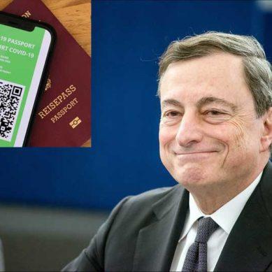 """Italia: """"Green pass"""", Draghi firma il decreto"""