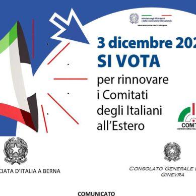 Elezioni Com.It.Es.: l'Ambasciata d'Italia a Berna informa