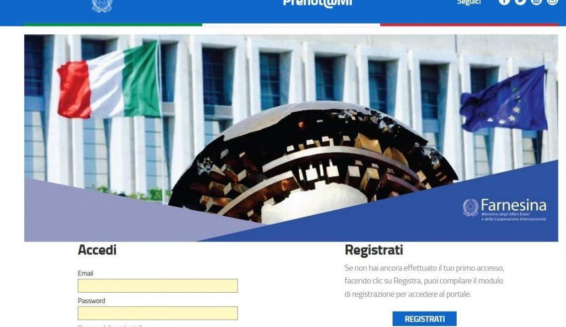 Ambasciata a Berna: Nuovo sistema PRENOT@MI